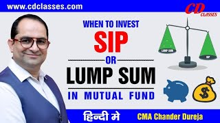 Lump sum or sip in mutual fund OR Index Fund Investment in Share Market