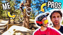 Learning How To Jump Basics with 2 PRO Mountain Bikers