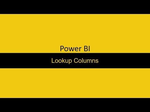 27  Lookup columns Power BI