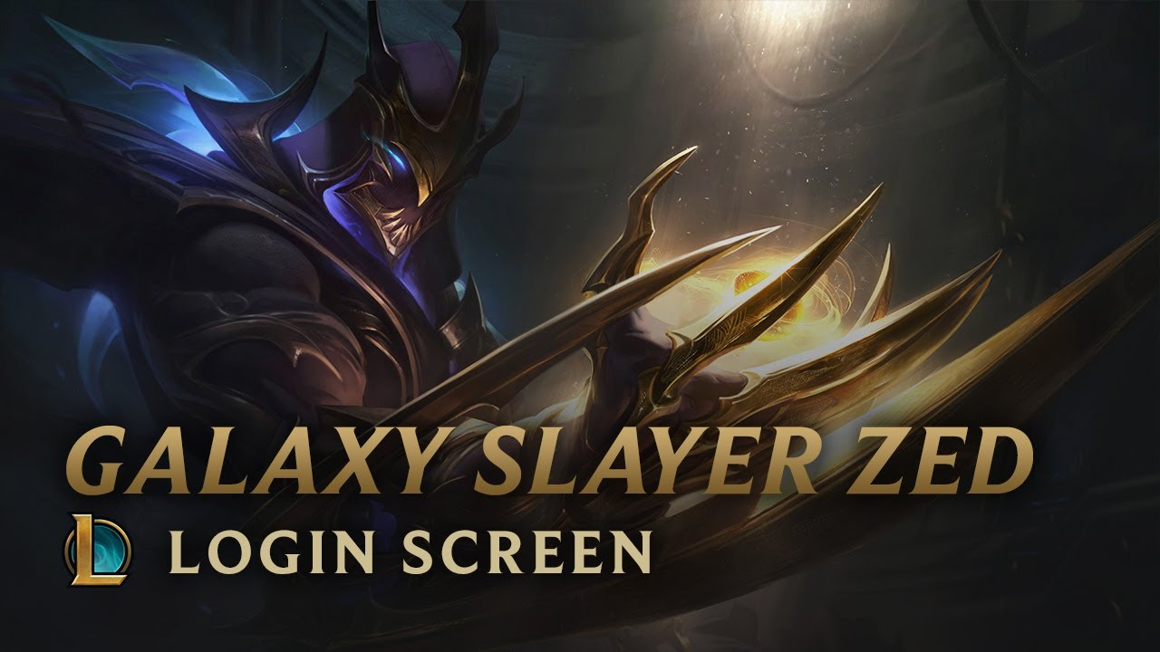 Galaxy Slayer Zed Login Screen League Of Legends Youtube