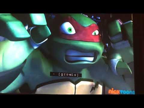 teenage mutant ninja turtles raphael scare the pizza man