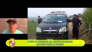 SERENAZGO DEL DISTRITO DE HUAURA - RECUPERO VEHICULO ROBADO 07 MAYO