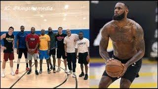 LeBron James Works Out w/ Kawhi Leonard & Kevin Durant IN LA