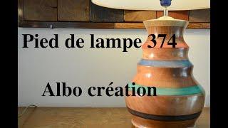 TOURNAGE PIED DE LAMPE 374. Sapelli