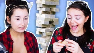 Die ULTIMATIVE Make Up Challenge... wir spielen MAKEUP JENGA! 😂