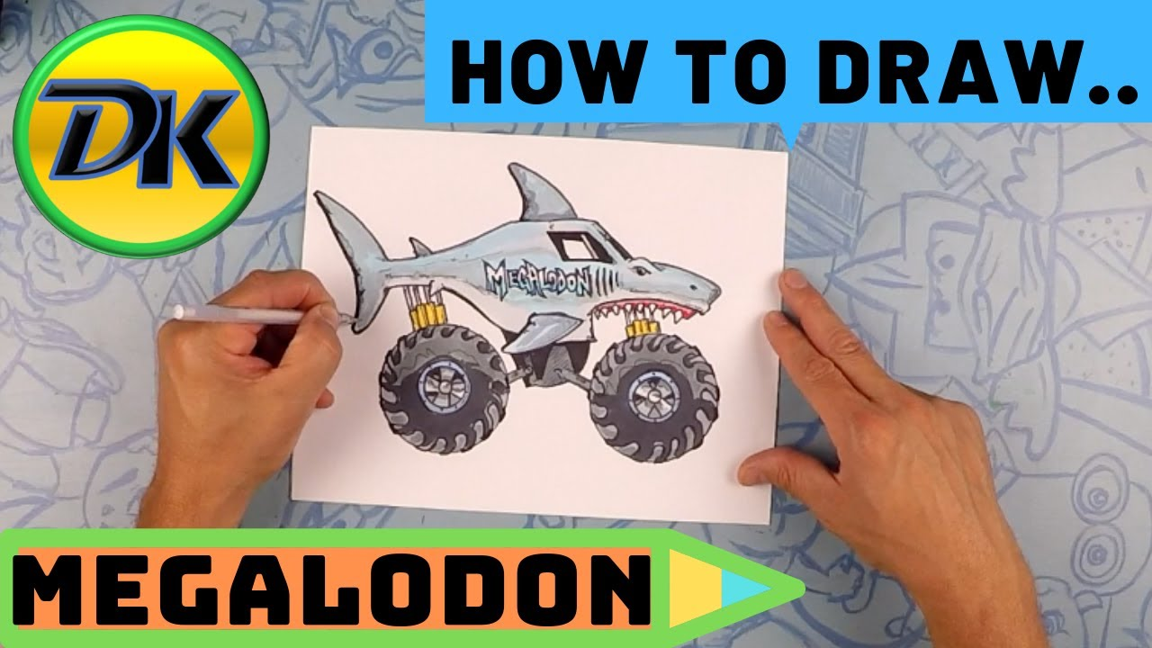 How to Draw Megalodon - YouTube