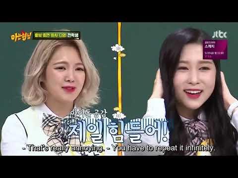 [ENG/INDO] Knowing Bros - Ep. 128: Girls Generation Hyoyeon, Mamamoo Hwasa, Cosmic Girls Dayoung