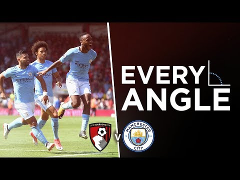 RAHEEM STERLING GOAL | EVERY ANGLE | Bournemouth 1-2 Man City