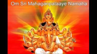 Mahaganpati mantra- Om Sri Mahaganpataaye Namaha 108x
