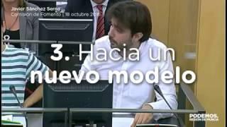 Javier Sánchez defendiendo la Movilidad Sostenible