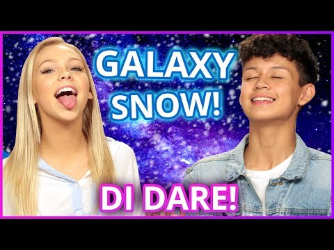 DIY GALAXY SNOW?! Di Dare w/ Jordyn Jones & Brandon Westenberg