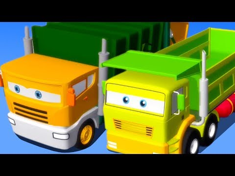 Street Vehicles For Children | Cartoon Cars | 3D Video For Toddlers
