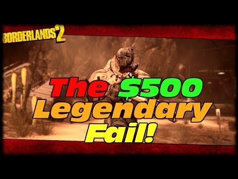Borderlands 2 The $500 Legendary Drop & Fail! Borderlands 2 Just My Luck The Mongol!