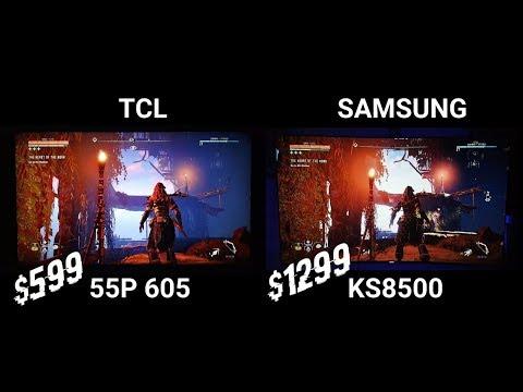 Horizon zero dawn TCL P series vs Samsung KS8500 HDR