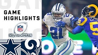 Cowboys vs. Rams Divisional Round Highli...