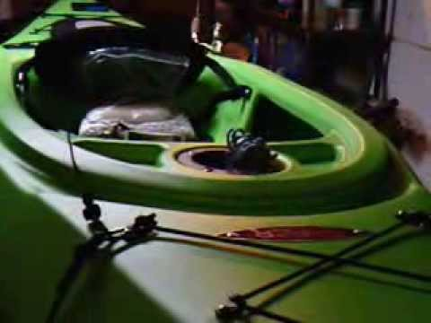 viper kayak homemade rod leash - YouTube