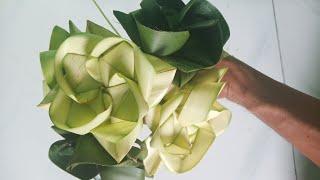 Cách làm hoa sen bằng lá dừa đơn giản, đẹp c2 #TOITNT