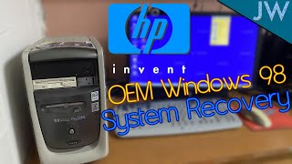 Restoring the HP Pavilion 6630 to OEM Windows 98 Second Edition