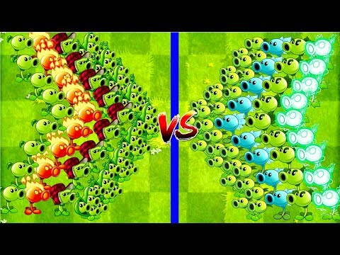 Every PEA MAX LEVEL POWER-UP! vs ZOMBIES in Plants vs Zombies 2 Peashooters