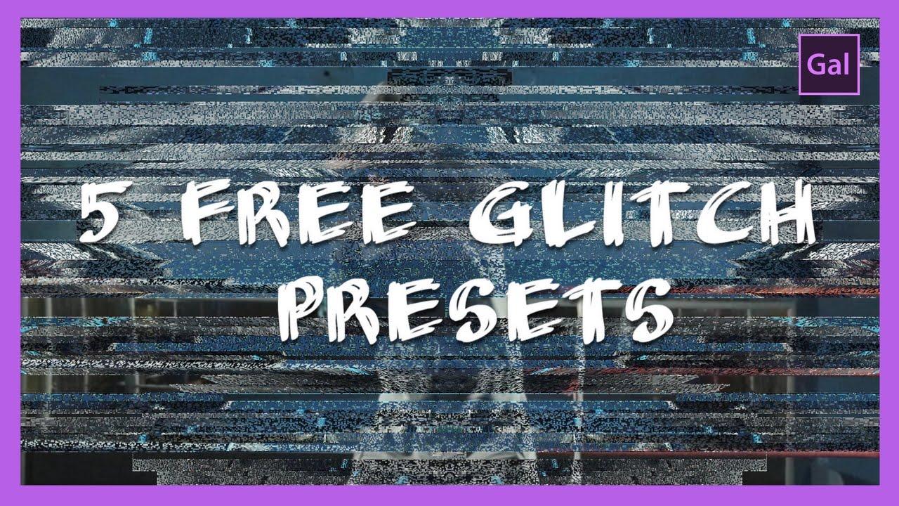 5 Free Glitch Transitions Presets | Adobe Premiere Pro CC Tutorial