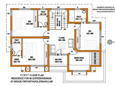 Great Autocad 2016 2D Floor Plan