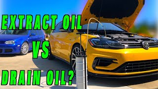 Will an Oil Extractor Get All The Oil? (MK7.5 Golf R 5000 Mile Service)