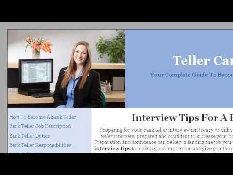 Bank Teller Interview Tips - YouTube