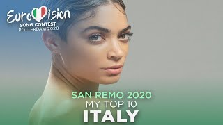 Sanremo 2020 (Italy NF) - My Top 10