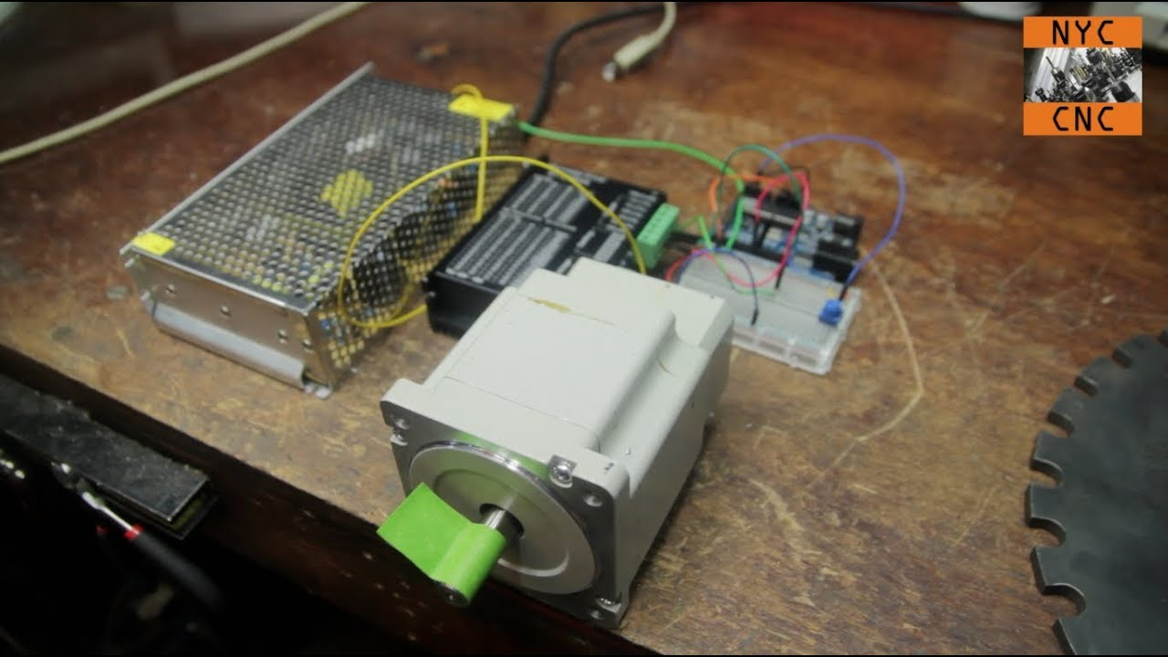4 Wire Arduino Diagram Use Arduino To Control A Large Stepper Motor Part 1 Youtube