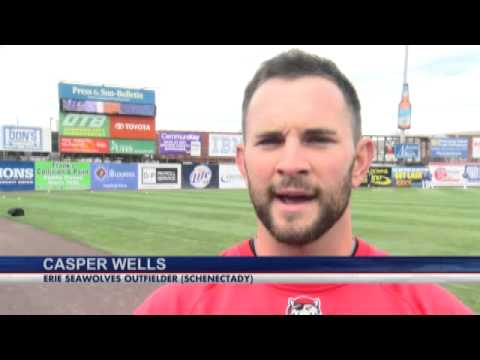 Harris and Wells together in Erie with MLB i