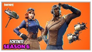 Fortnite: New Maximilian, Airheart Skins And Turbine Pickaxe + Dirigible Glider