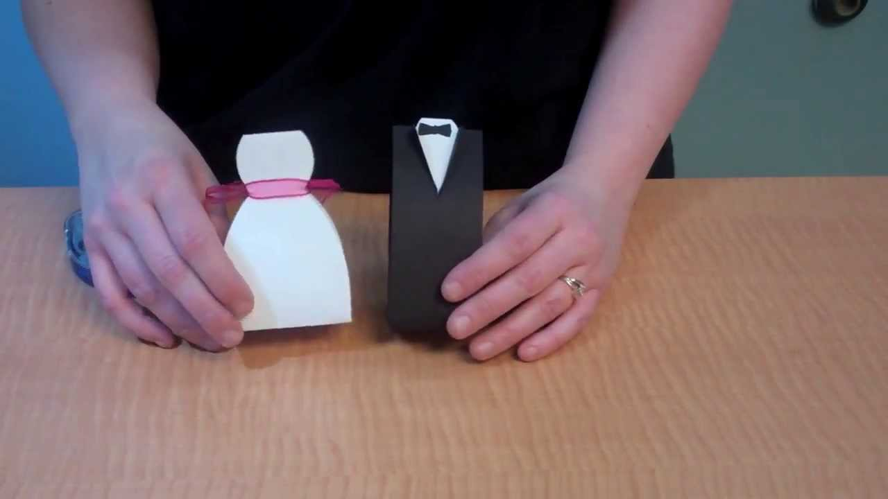 Create Bride And Groom Favor Boxes Youtube
