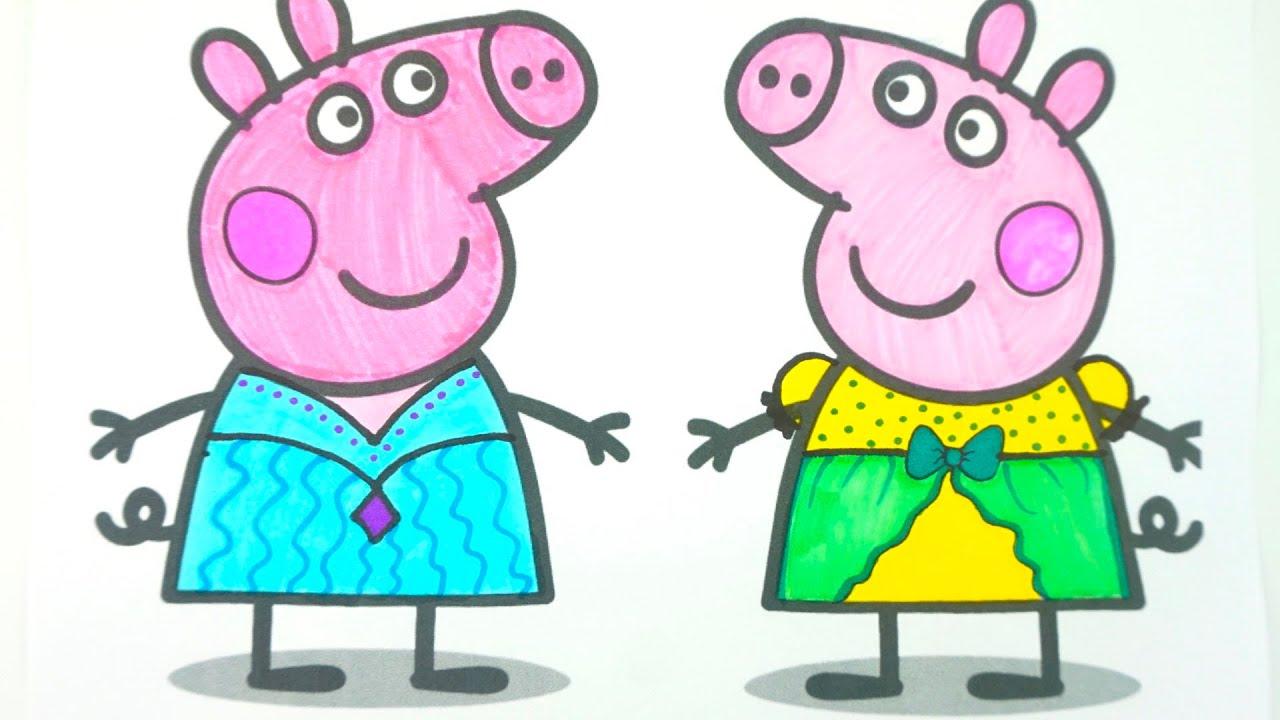 Свинка Пеппа создаем новые наряды, учимся рисовать и раскрашивать.