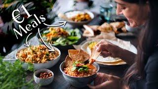 VEGAN BUDGET CHALLENGE » €1/$1 meals for 5 days (+ grocery list)