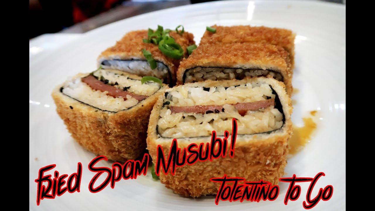 FRIED SPAM MUSUBI! We tried out DA KITCHEN on Maui! Super Ono Food ...