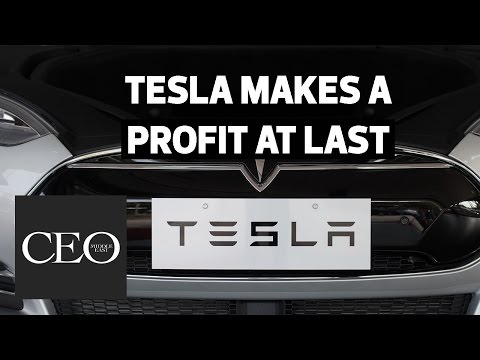 Tesla makes profit for first time in TWO YEARS