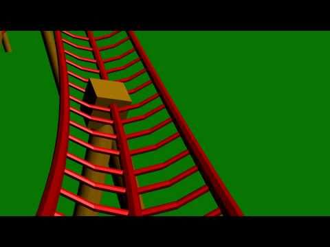 Achtbaan animatie - YouTube