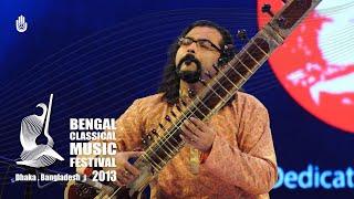 Purbayan Chatterjee at Bengal Classical Music Festival 2013, Dhaka , Bangladesh
