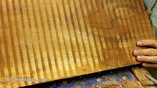 Scraping A Rough Cut Board Of Wood • Complete Sharpening Series Video 30