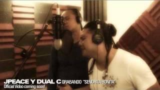 [HD] Jpeace y Dual C grabando Soñorita Bonita en estudio