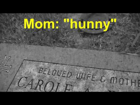 Talking to Mom at the cemetary.