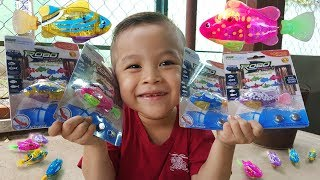 do choi con ca robo  fish robot toys  chichi toysreview tv  kids baby doli