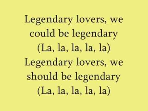Legendary Lovers - Katy Perry (Lyrics)