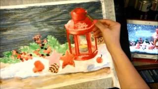 Как рисовать масляной пастелью How to draw oil pastel(Работа рисуется по уже подготовленной подложке, нарисованной акварелью. В видео фрагмент работы., 2016-02-03T11:29:55.000Z)
