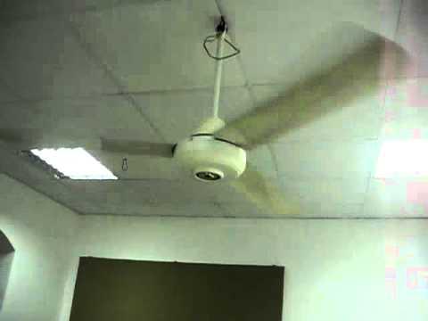 National F560z1 Industrial Ceiling Fan Youtube