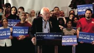 Bernie Sanders Gives Shoutout To TYT At Anaheim Rally