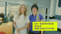 W Series Sim Sessions with Jessica Hawkins and Miss Emma Walsh