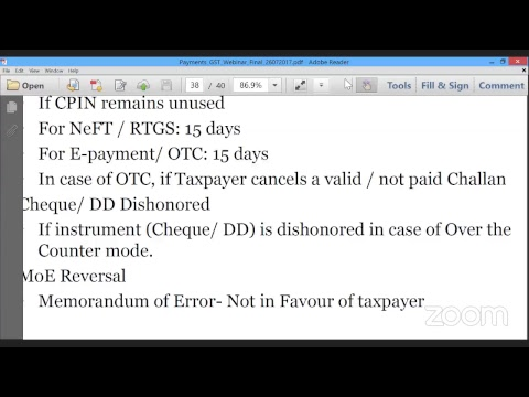 Payment Processes in GST