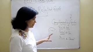 Micro economics, demand : Substitute and complementary goods  (3)