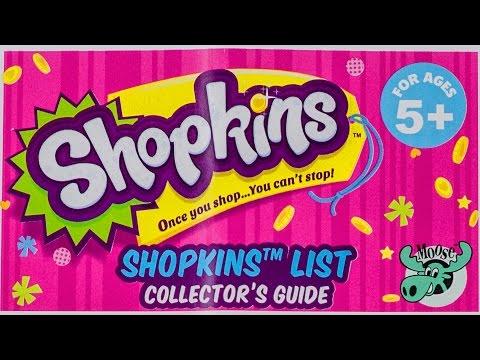 SHOPKINS Season 2 List Checklist Collector Guide 2015